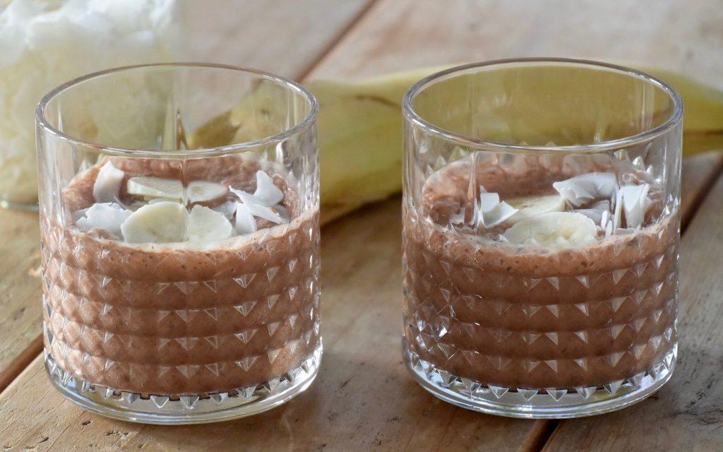 Bananen-chocolade shake