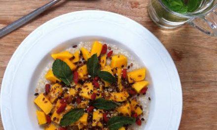 Boekweitpap met mango