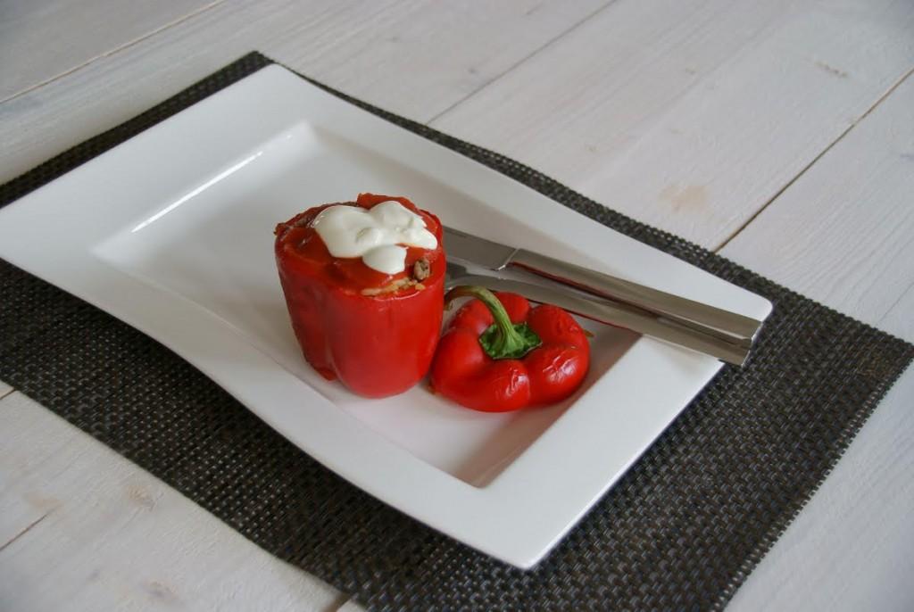 Gevulde paprika's van Eat run love