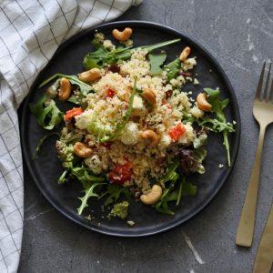 Couscoussalade met feta | vegetarisch | salade | puur suzanne | salade | puur suzanne