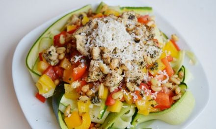 Courgette paprika salade van Miss craftsy