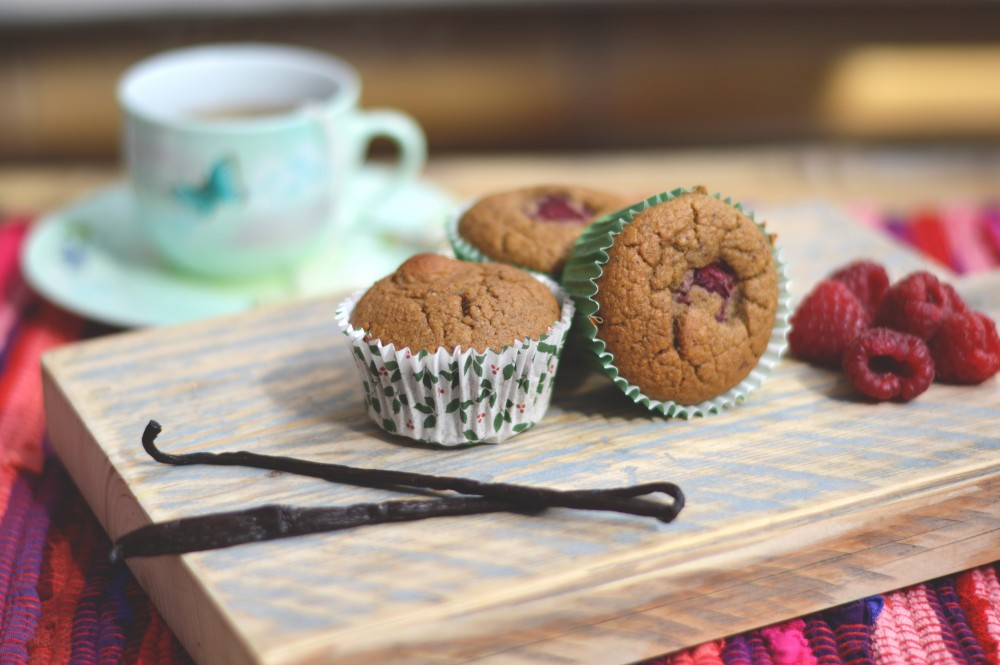 Vanille muffins met frambozen