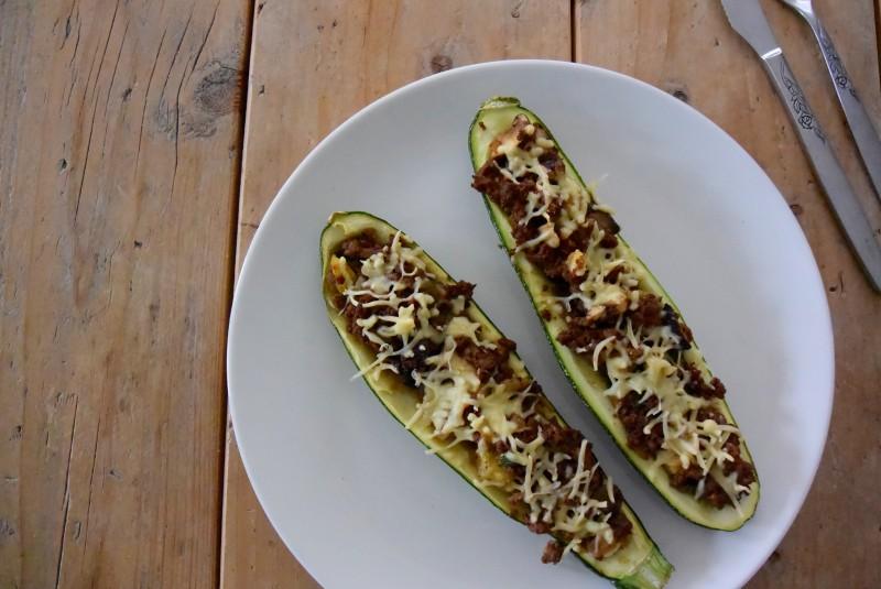 Gevulde courgette | vegetarisch gerecht | Puur Suzanne