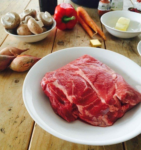 Stoofpot met rundvlees en rode wijn