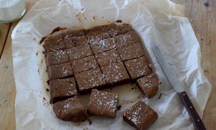 Brownies met zwarte bonen