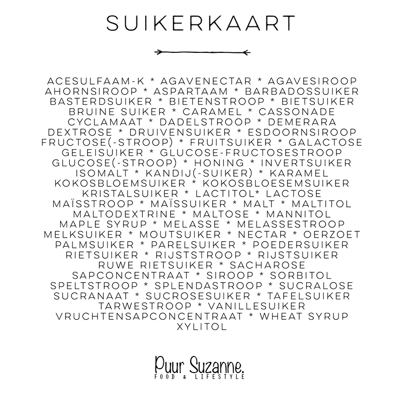 suikerkaart - www.puursuzanne.nl