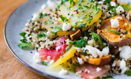 Quinoa met bietjes & zoete aardappel