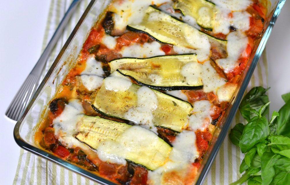 Glutenvrije lasagna met courgette en aubergine