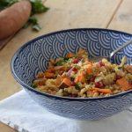 Couscous salade met zoete aardappel