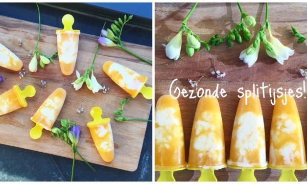 Zelfgemaakte split ijsjes