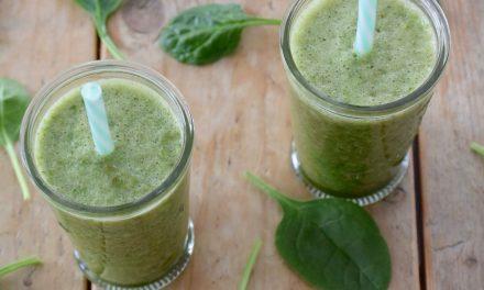Groene smoothie met peer