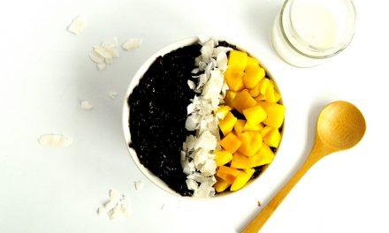 Zwarte rijstpudding