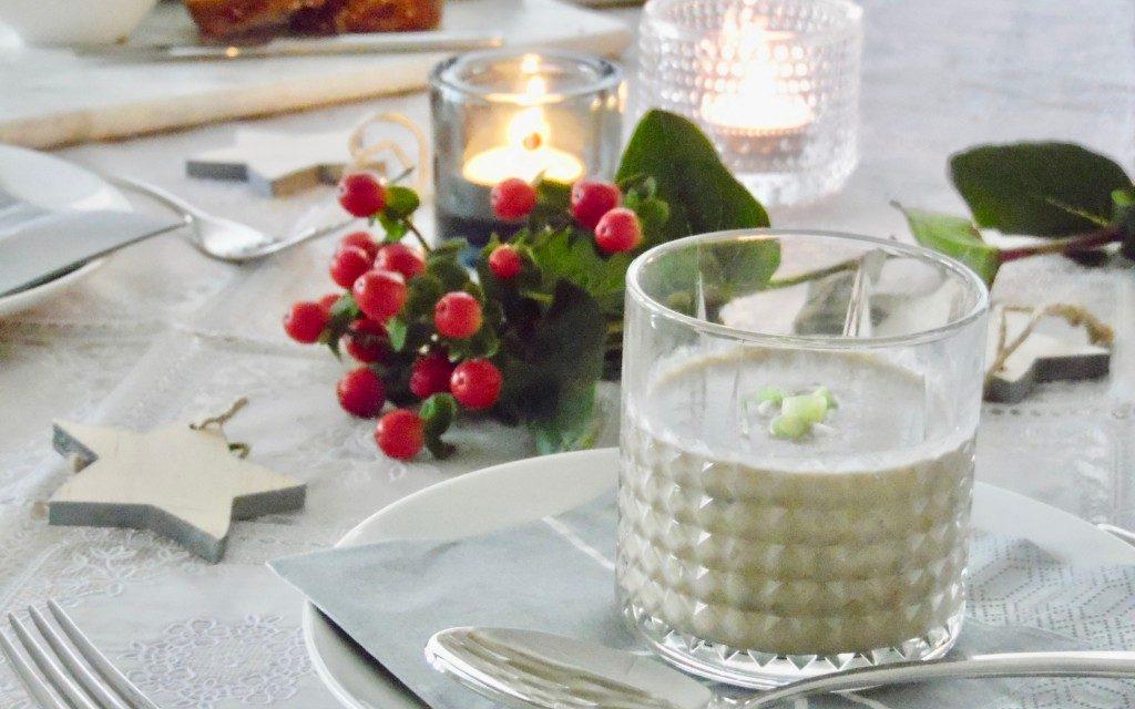 Kerstdiner: champignonsoep
