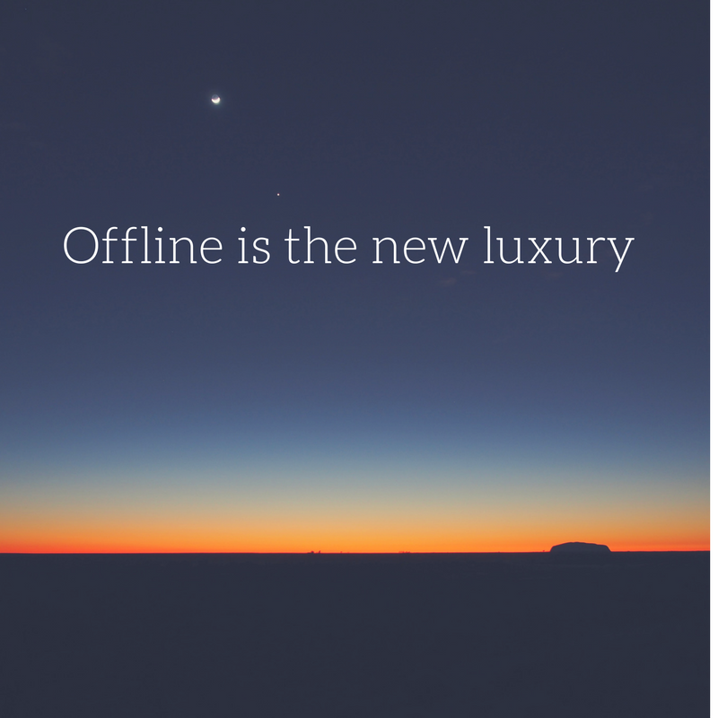 offline is the new luxury - www.puursuzanne.nl