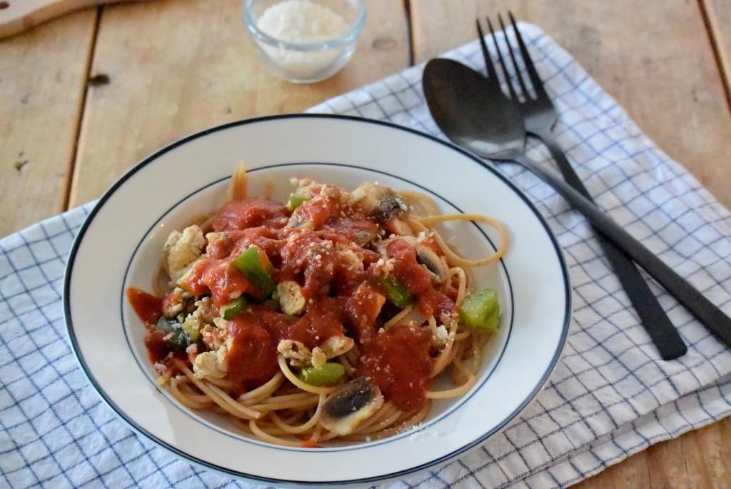 Spaghetti met kip - www.puursuzanne.nl
