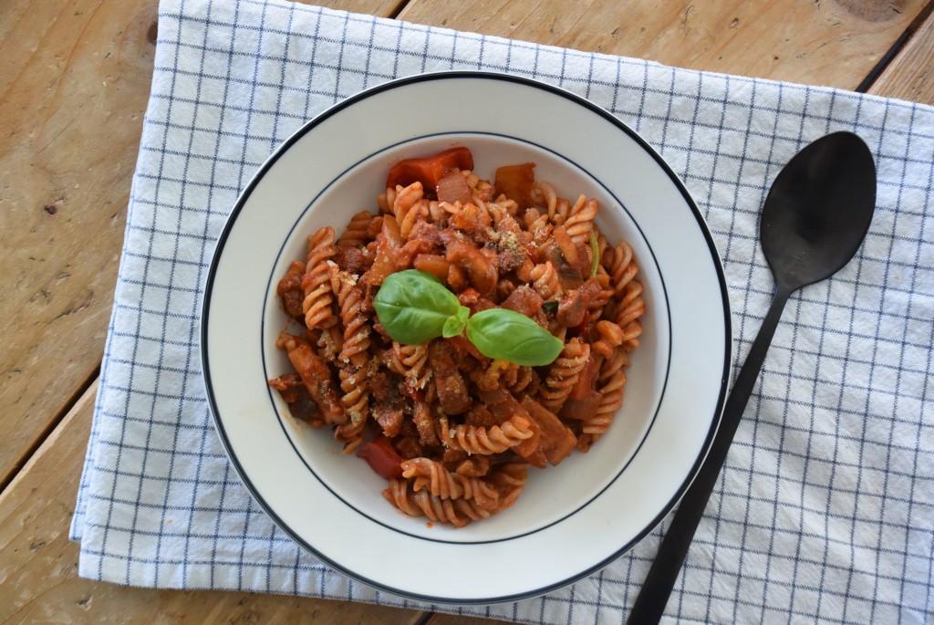 vegan pasta - www.puursuzanne.nl