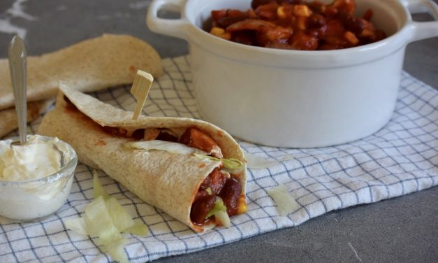 Wraps met chili sin carne