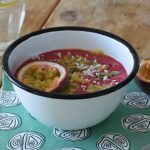 Smoothie bowl met frambozen