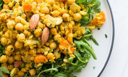 Salade met linzen en kikkererwten
