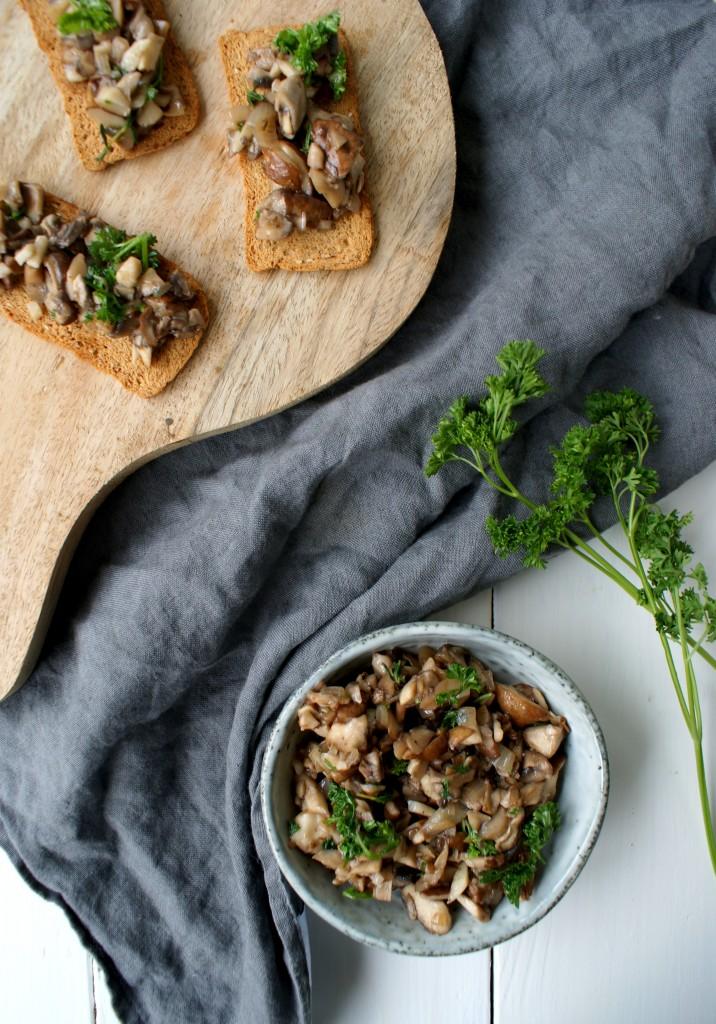 Champignon dip | vegan borrelplank | borrelhapje | puur suzanne
