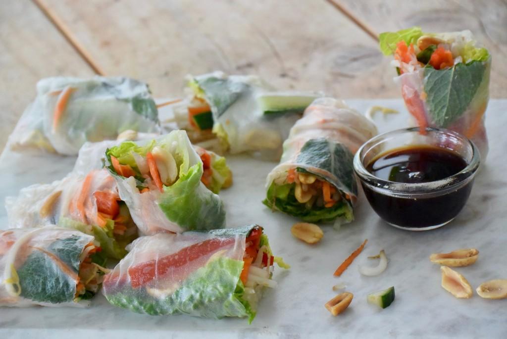 vegetarische summerrolls - www.puursuzanne.nl