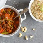 Vega curry met champignons