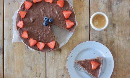 Vegan chocolade taart