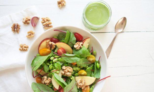 Salade met snijbiet en appel
