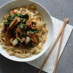Noodles met vega kip