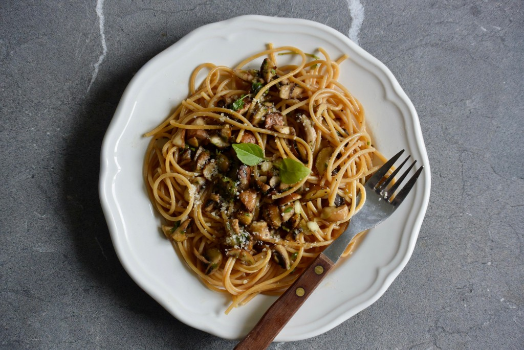 Spaghetti met champignons - www.puursuzanne.nl