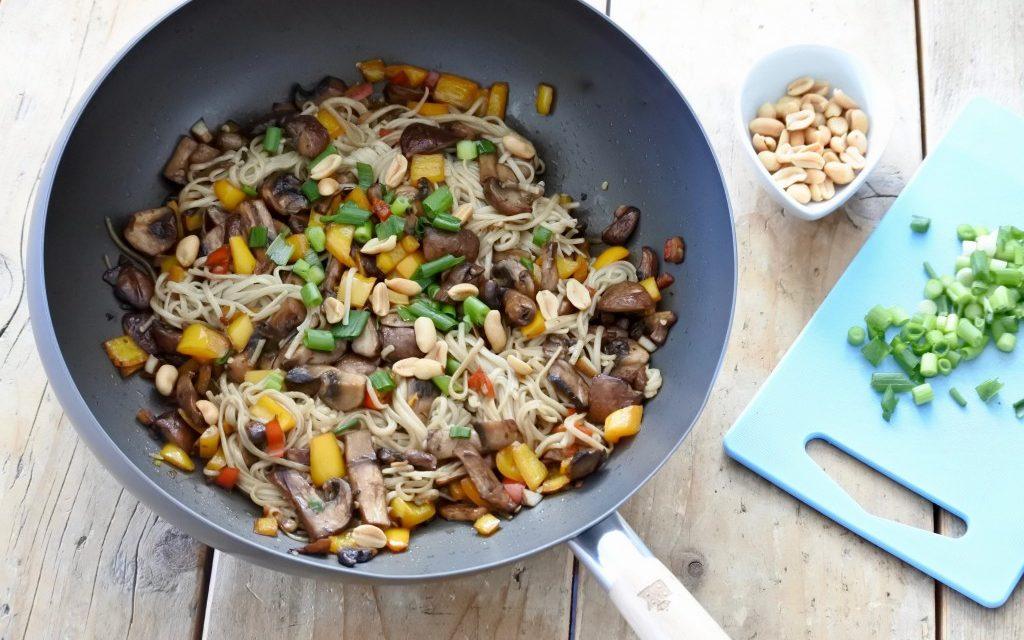 Noodles met champignons