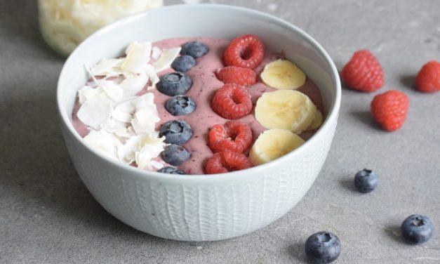 Açaí bowl met banaan