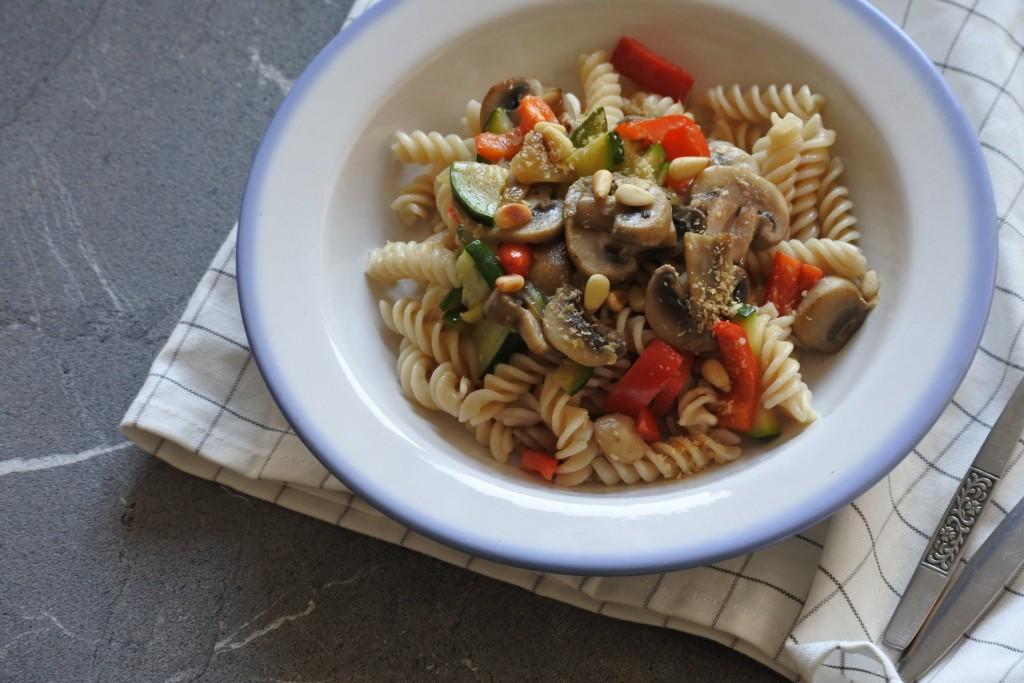 Pasta met champignons - www.puursuzanne.nl