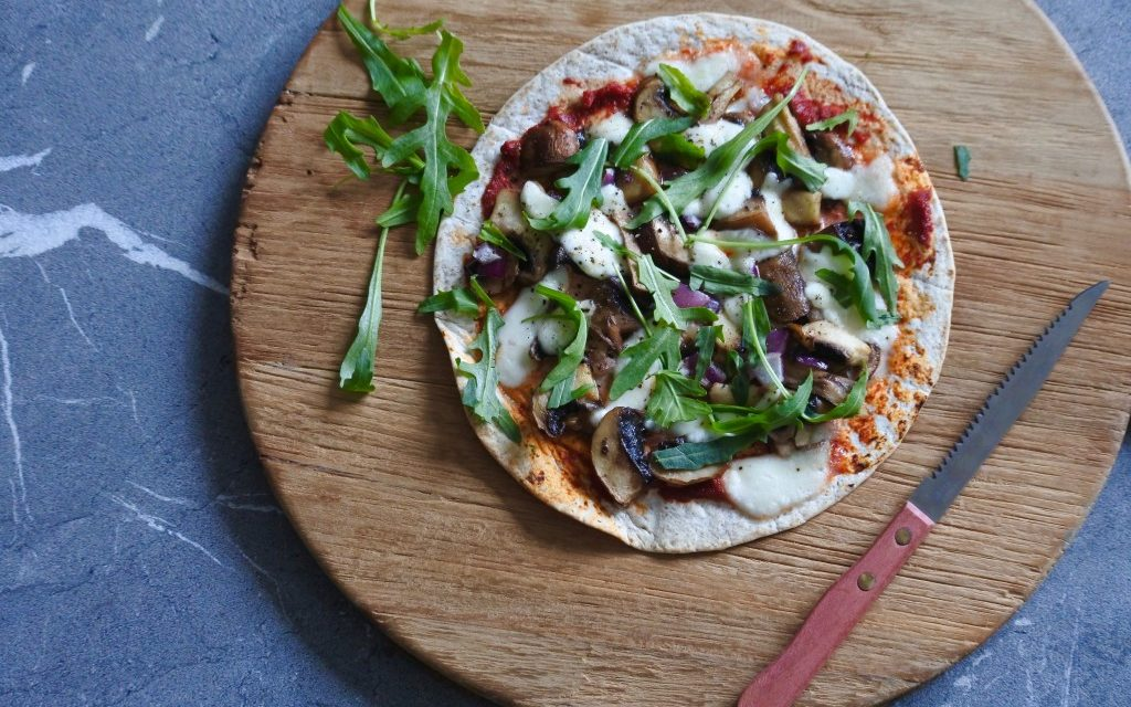 Vegetarische wrap pizza