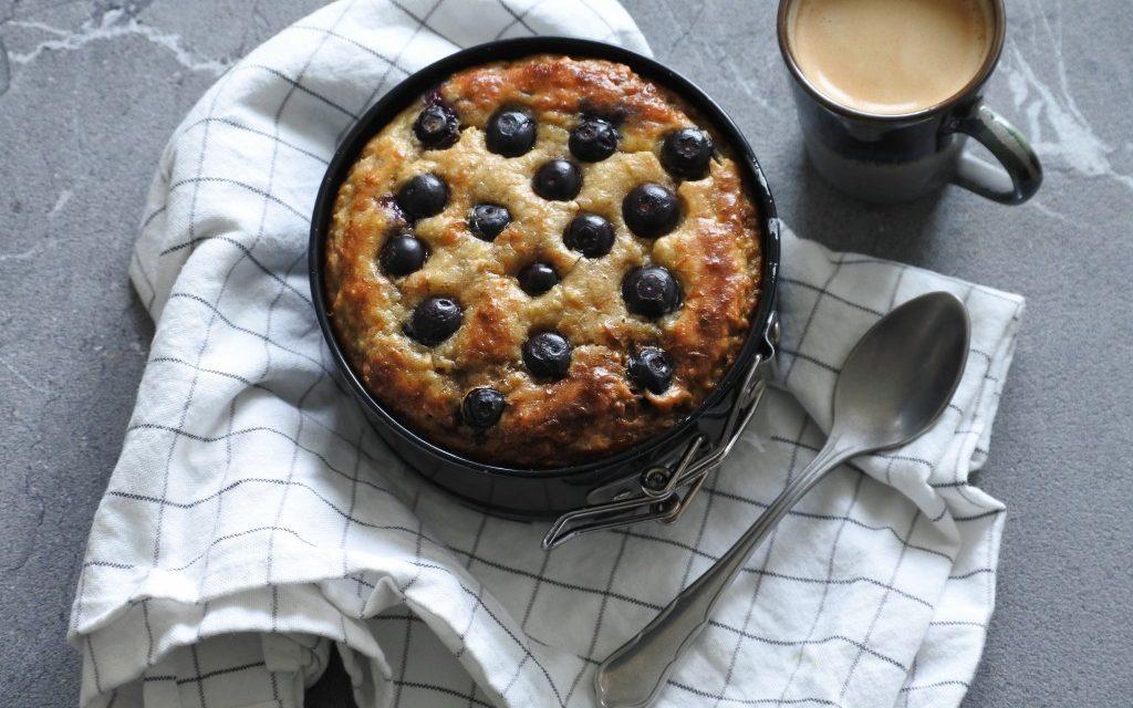 Glutenvrij taartje met blauwe bessen