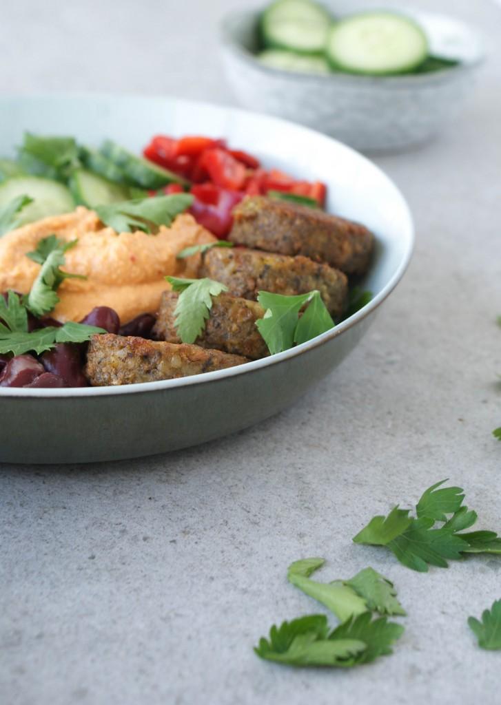 Falafel bowl - www.puursuzanne.nl