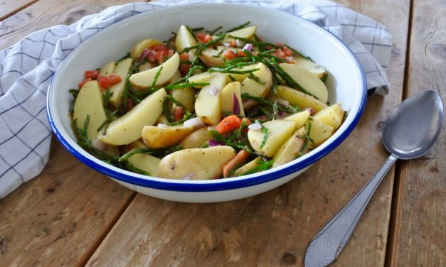 Aardappelsalade met zeekraal