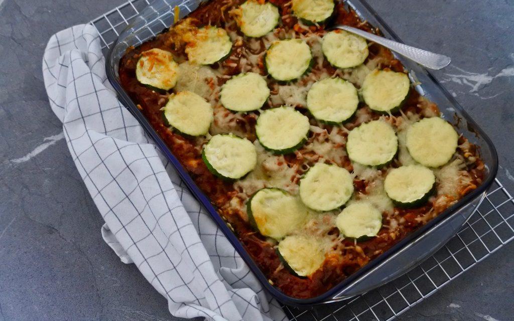 Lasagne met vega gehakt en courgette