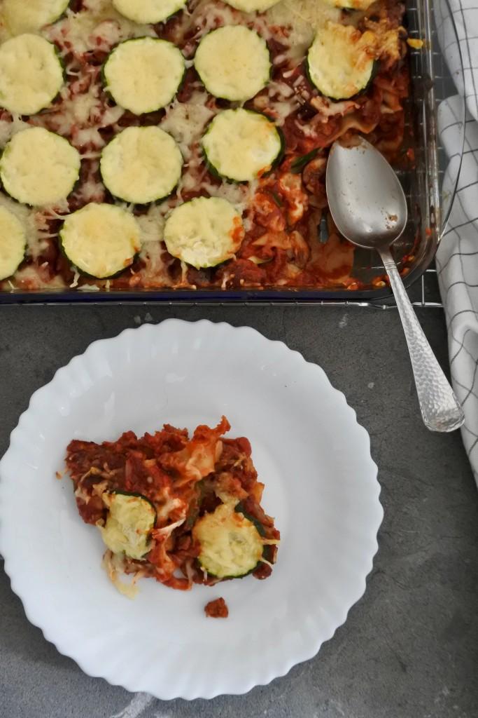 Lasagne met vega gehakt en courgette - www.puursuzanne.nl