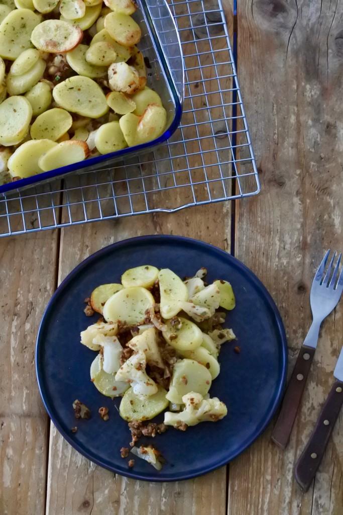 Vegetarische ovenschotel met bloemkool - www.puursuzanne.nl