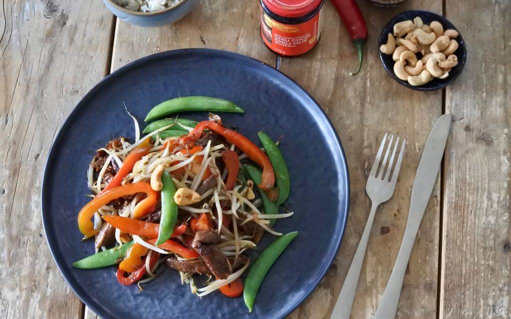 Chinese vega kip met cashewnoten