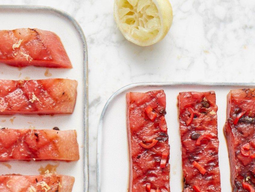 Gegrilde watermeloen (BBQ Recept)