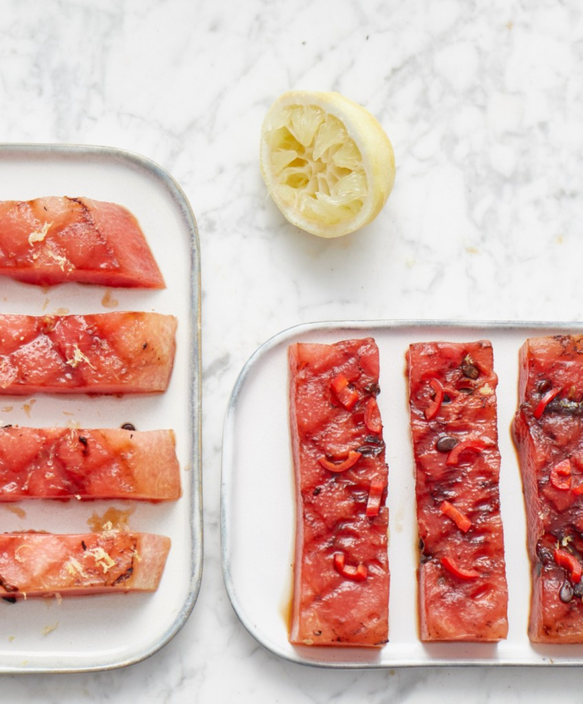 Gegrilde watermeloen - BBQ recept - vega BBQ - Puur Suzanne
