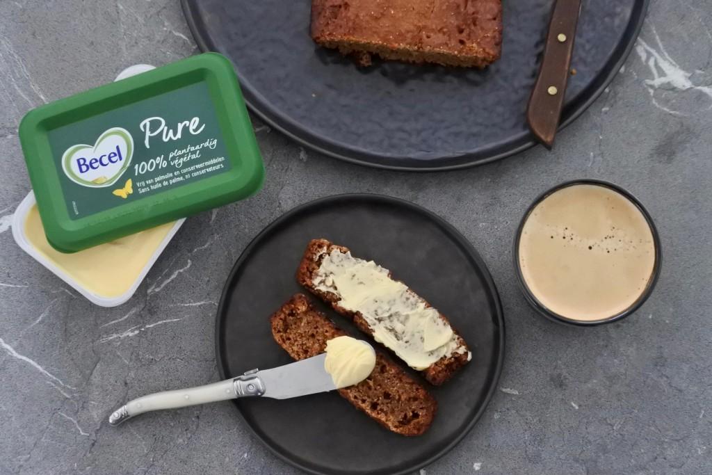 Ontbijtkoek | becel pure | margarine | vegan | Puur Suzanne