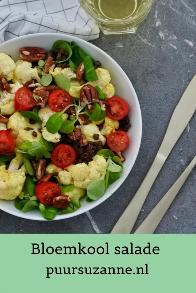 Bloemkoolsalade | vegan salade | easy maaltijd | lunch | Puur Suzanne