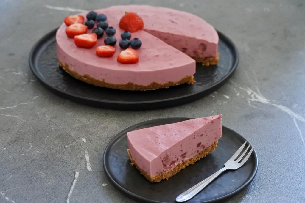 vegan kwarktaart - vegan cake - vegan bakken - www.puursuzanne.nl