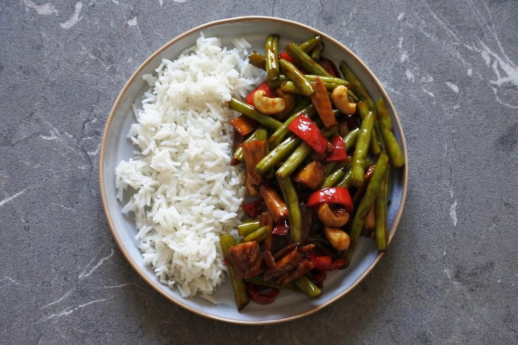 Rijst met sperziebonen | vegetarische maaltijd | vegan | puur suzanne