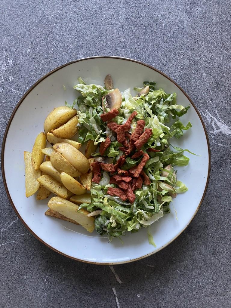 Andijvie salade met champignons  | vegan maaltijd | Puur suzanne