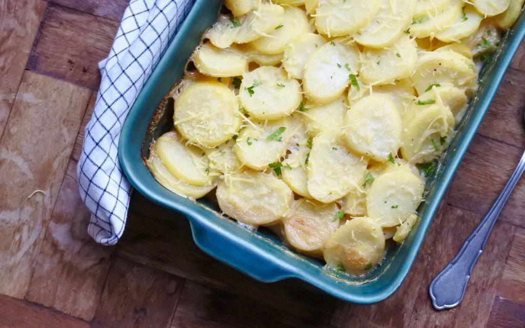 Vegan aardappelgratin