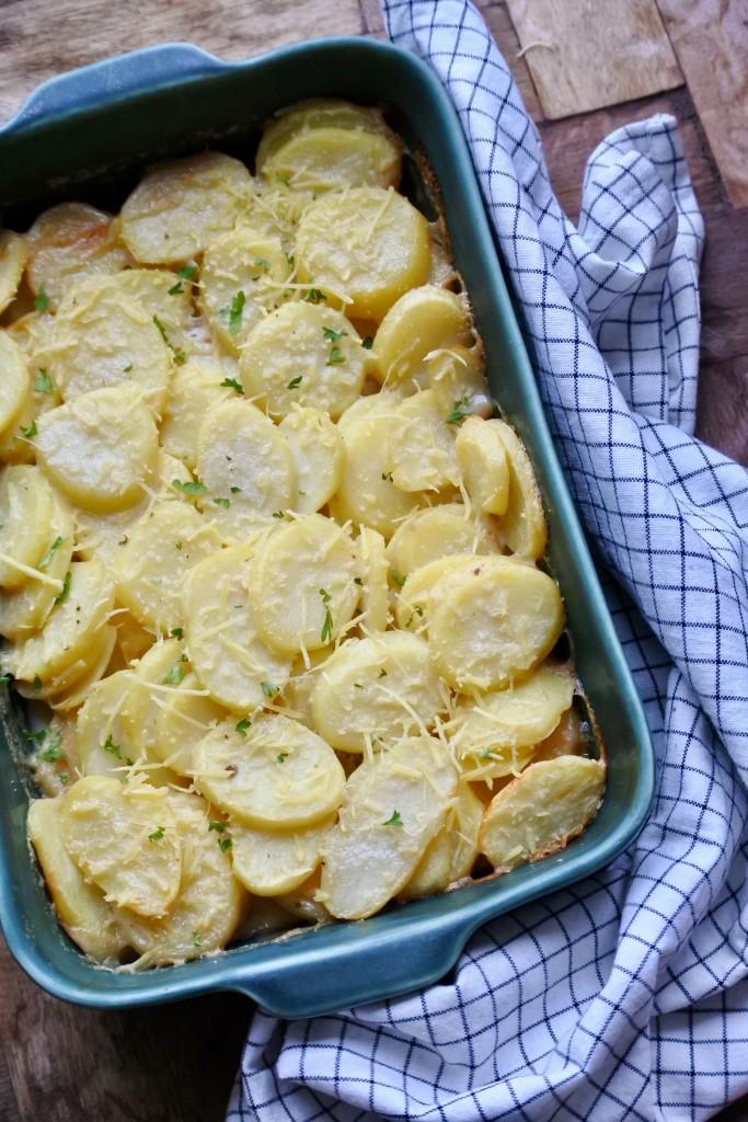 Vegan aardappelgratin | bijgerecht | vegan kerstrecept | feestdagen | Puur Suzanne